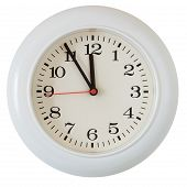 stock photo of last day work  - Wall clock dial close - JPG