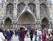 LONDON- APRIL 2: Tourists visit Westminster abbey, the venue for the royal wedding of prince William and Kate Middleton to be held later this month in London, April 2, 2011.