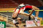 VIENNA, AUSTRIA - FEBRUARY 21: Indoor track and field championship: Guenther Gasper places third in