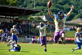 GRAZ,  AUSTRIA - JULY 18 Austrian Football League - Austrian Bowl XXV:  RB Josiah Cravalho (#25, Vik