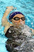 VIENNA, AUSTRIA - NOVEMBER 28: Czech swimmer Tereza Kopecka places tenth in the women's 100m backstr