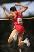 Danny Ecker Germany competing in the pole vault at the Istaf Berlin International Golden League Athl
