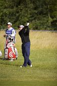 KENT UK JULY 6.England's David Howell competing at the PGA European Tour European Open at the London