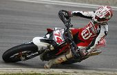 MILAN ITALY JUNE 24 Chris Hodgson at the FIM Supermoto World Championship CASTELLETTO DI BRANDUZZO I