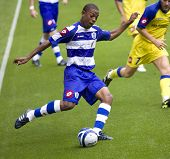 LONDON, UK AUGUST 2, Fitz Hall at the pre-season friendly football match between QPR and Chievo,