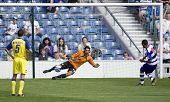 LONDON, UK AUGUST 2, Dexter Blackstock scores from the penalty spot at the pre-season friendly footb