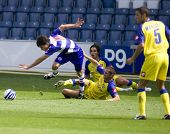 LONDON, UK AUGUST 2,Marco Malago fouls Kaspars Gorkss the pre-season friendly football match between