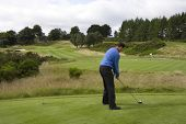 GLENEAGLES SCOTLAND AUGUST 27, England's David Howell lines up a tee shot whilst competing in the Jo