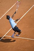 MONTE CARLO MONACO APRIL 27, Rafael Nadal ESP v Roger Federer SUI competing in the final of the ATP