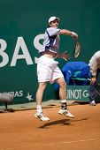 MONTE CARLO MONACO APRIL 21, Feliciano Lopez ESP v Andy Murray GBR competing in the ATP Masters tour