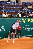 MONTE CARLO MONACO APRIL 20, Nicolas Kiefer (GER) competing in the ATP Masters tournament in Monte Carlo, Monaco, 19-27 April 2008