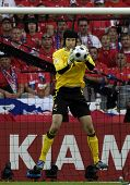 GENEVE - JUNE 11: Petr Cech goalkeeper of Czech Republic Football National Team during the match Cze