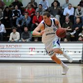 KAPOSVAR, HUNGARY - DECEMBER 17: David Vojvoda in action at Hungarian National Championship basketba