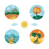 Cuatro pequeños paisajes