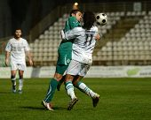 KAPOSVAR, HUNGARY - NOVEMBER 19: Jawad Daniane (R) in action at a Hungarian National Championship so