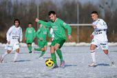 KAPOSVAR, HUNGARY - NOVEMBER 27: Krisztian Garai (R) in action at the Hungarian National Championshi