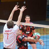 KAPOSVAR, HUNGARY - FEBRUARY 24: Krisztian Csoma (C) in action at a Hungarian National Championship