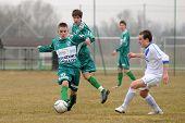 KAPOSVAR, HUNGARY - MARCH 5: Krisztian Garai (10) in action at the Hungarian National Championship u