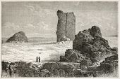 image of babylonia  - Tower of Babel old illustration - JPG