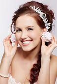 Retro Girl With Marshmallows