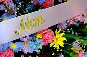 picture of funeral  - Image of Burial Flowers at a Mothers funeral - JPG
