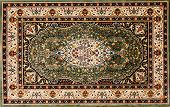 image of cultural artifacts  - Arabic or Persian rug with floral pattern - JPG