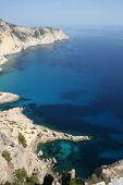 Aerial View of Ibiza Island Coastli