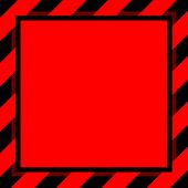 Warning Sign Red Black Stripe Frame Template Background Copy Space, Banner Frame Striped Awning Red, poster