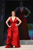 NEW YORK - FEBRUARY 8: Jeannette Torres-Alvarez wears Carlos Miele at The Heart Truth's Red Dress Co