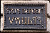 Safe Deposit Vaults Sign