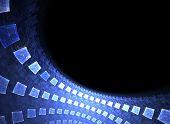 Blue High-Tech Wall