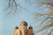 Christian Temple In Russia, A Full-length Temple. The Church Of The Christian Church Is A Monument O poster