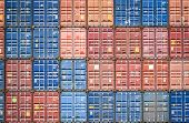 Container Ship In Export And Import Business And Logistics In Harbor Industrial Packing  And Water T poster