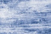 Blue Paint Stains On Canvas. Abstract Illustration With Blue Blots On Soft Background. Creative Arti poster