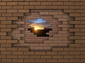 Wall Sunset
