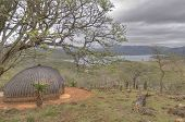 stock photo of zulu  - Typical Zulu Rondavel Hut in South Africa