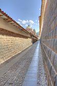 Historical Inca Walls in Cusco, Peru