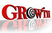Growth Red Word And Target