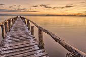 Landing Stage after sunset
