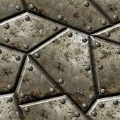 foto of panzer  - Armor seamless texture background   - JPG