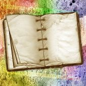 The Old Book On A Abstract Vintage Background.