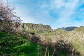 Famous Garni Pagan Temple In Armenia Sitting High On A Cliff Above Garni Gorge poster