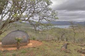 pic of zulu  - Typical Zulu Rondavel Hut in South Africa  - JPG