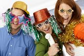 stock photo of office party  - New year celebration in office - JPG