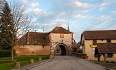 Ancient Archway To Dachstein Village. Alsace, France