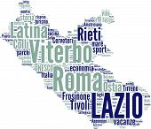 Italy regions tag cloud