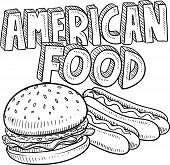 American food sketch