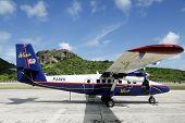 Winair aircraft ready to take off
