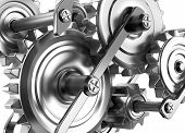 stock photo of time machine  - Gears and cogs working together - JPG