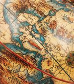 stock photo of cartographer  - Antique map of America  - JPG